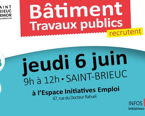 Opération de recrutement - Secteur du bâtiment - Saint-Brieuc